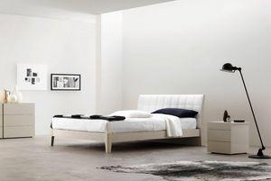 Relux, Lit avec tête de lit matelassée en cuir