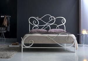 Aura grand lit, Fer forgé de lit classique pour chambre à coucher