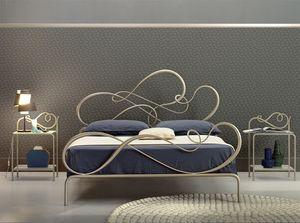 Blues grand lit, Lit de fer classique pour chambre élégante