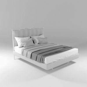 Bolton, Lit en fer avec tête de lit rembourrée