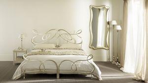 Ghirigori lits jumeaux, Double lit en fer plat, fait main, pour les hôtels