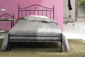 Giulia 120, Classique lit en fer, pour Chambre traditionnelle
