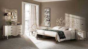 Klimt lit, Lit en fer dessiné, fait main, pour les hôtels