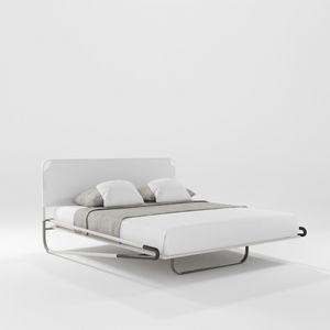 Portofino Due, Lit avec tête de lit en tissu tridimensionnel