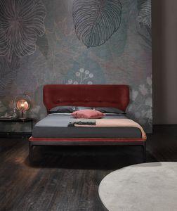 AMBRA, Lit avec tête de lit rembourrée