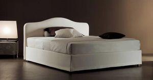 Ariel, Lit moderne avec tête de lit matelassé de polyuréthane rembourrés