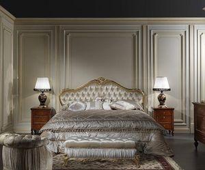 Art. 925 Lit Maggiolini, Lit de style classique Maggiolini, avec tête de lit rembourrée