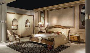 LE22K Arts lit rembourrée, Lit double classique avec tête de lit rembourrée