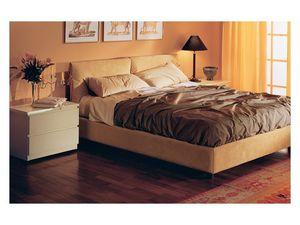Bedroom 12, Lit rembourré, en alcantara amovible, pour les chambres résidentielles