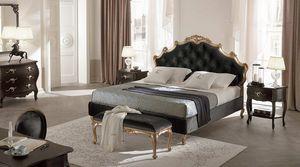 Capitonné Sissi lit, Lit en bois massif, tête de lit et bedframe rembourrée