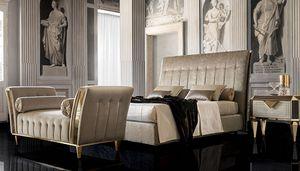 DIAMANTE upholstered bed, Lit rembourré, avec un style classique