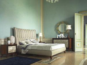Grand Etoile Art. GE015/A/L, Lit rembourré avec tête de lit importante