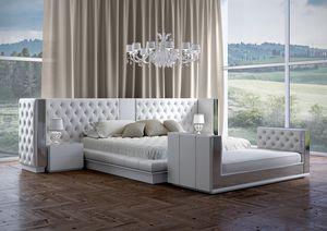 Impero lit, Lit avec une tête de lit capitonnée luxueuse