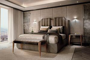 LEXINGTON AVENUE Lit, Lit de luxe avec tête de lit rembourrée