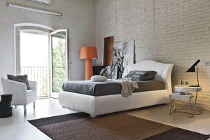 MADDALENA SD438, Lit rembourré semi-double adapté pour les chambres modernes