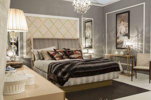 Miami lit, Lit élégant avec tête de lit rembourrée