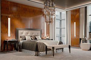 PARK AVENUE  Lit, Lit de luxe avec tête de lit en cuir