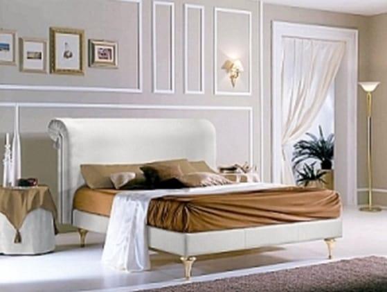 PRINCIPE lit, Lit avec tête de lit rembourrée et structure