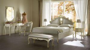 Sissi lit rembourré, Lit rembourré en bois massif, des hôtels de luxe