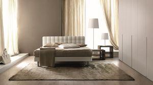 Tender, Lit double matelassé adapté pour les chambres modernes