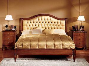 Alice lit, Lit en bois sculpté à la main pour Hôtel de luxe