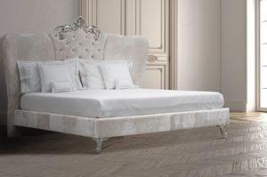 Ambra, Lit avec tête de lit enrichi en Swarovski