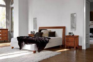 Vivre lit Art. 393, Lit avec tête de lit rembourrée et cadre de lit