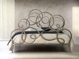 Azzurra, Lits en fer forgé, avec rouleaux, pour chambre classique