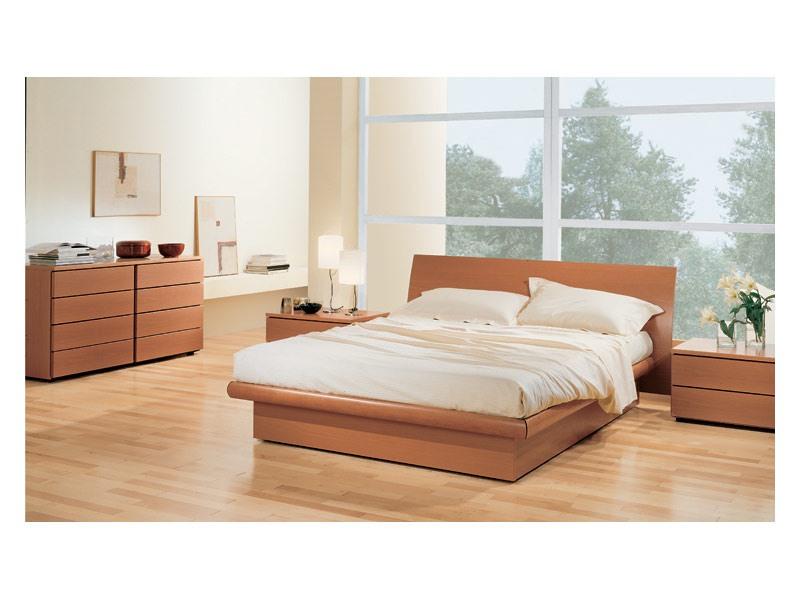 Bedroom 36, Chambre avec boîte de rangement lit, en bois de noyer Tanganyika, à rattacher avec commode et tables de chevet