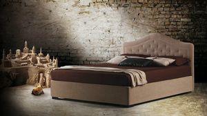Bora, Lit au goût classique avec tête de lit matelassée