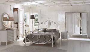 Caruso, Lit double dans l'aluminium, pour les chambres classiques