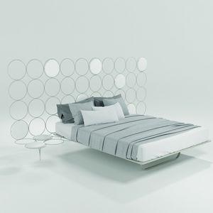 Cerchi, Lit moderne avec structure en métal, tête de lit en forme ruche