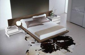 Chambre 14, Meubles pour les chambres à coucher, lit moderne avec une grande tête de lit
