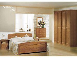 Collection Alice Double Bed, Les lits en bois pour les chalets et hôtels rustiques