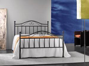 Giusy 120, Double lit en métal, pour une chambre classique