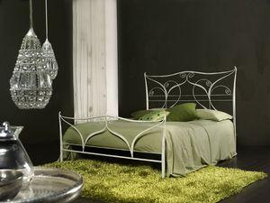 Klimt, Métal classique de lit double, découpe laser