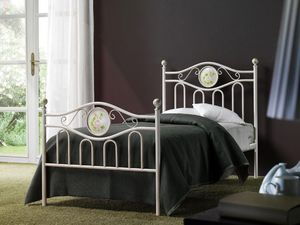 Lina Single Bed, Lit de fer classique pour chambre d'hôtel