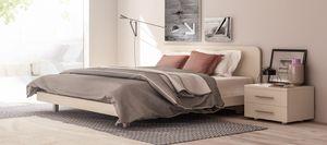 MATRIX, Lit double avec tête de lit