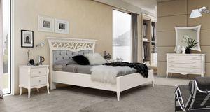 MONTE CARLO / lit, Lit classique contemporain avec tête de lit capitonnè