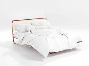 Nettuno, Lit d'orange tubulaire moderne et tête de lit rembourrée