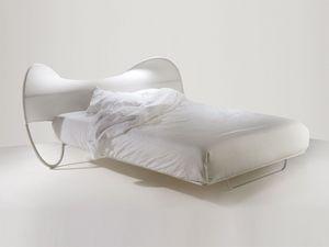 Onda Tre, Lit double moderne avec des éléments en trois dimensions de tissu