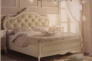 Priori, Lit de luxe classique pour les hôtels, les décorations de feuilles d'argent