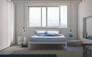 Spillo bed, Lit en bois avec des lignes fines, les hôtels et les chambres
