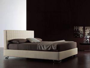 Tender, Lit moderne, tête de lit matelassé, pour Chambre