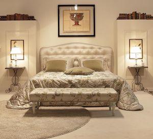 Victoria, Lit élégant avec tête de lit tuftée