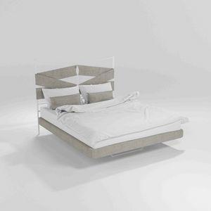 Young, Lit moderne avec structure en métal et des jambes de bois