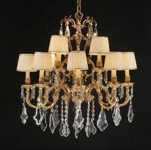 Art. 252 cp, Grand lustre avec pendentifs en cristal