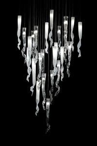 Comete lampe suspendue, Lustre en verre de Murano