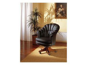 Arlon, Renouvelable fauteuil pour bureau présidentiel, en cuir