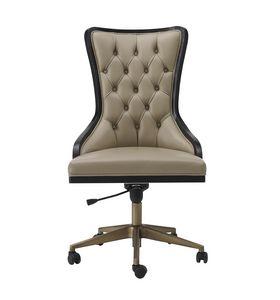Dilan Art. D08, Chaise de bureau pivotante avec finition capitonnée
